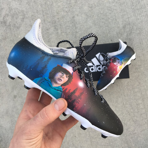 313dcf618d20 Amazing Cleats From Another Dimension - Custom Hand Painted Stanger ...