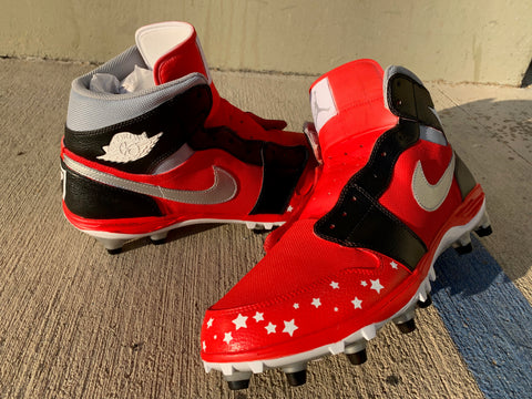 Custom Hand Painted Cleats