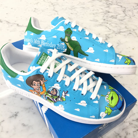 Disney Plus Streaming Launches Today! Here are some Custom Painted Disney shoes!