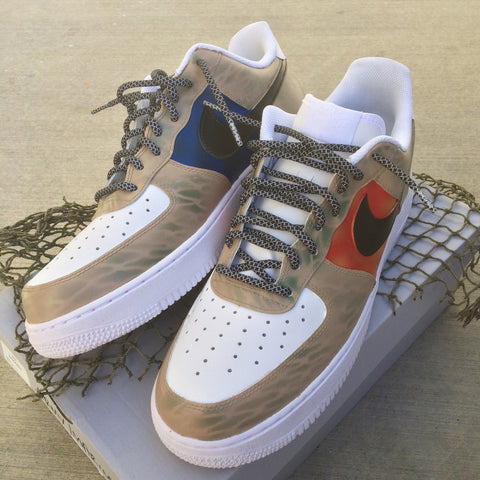 custom nike af1, custom hand painted shoes, custom sneakers, custom air force one, marines nikes, army nikes