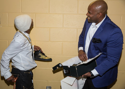 Katt Williams, Custom Jordans, Painted Shoes,
