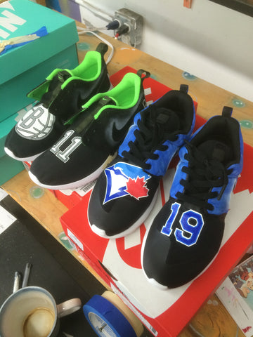 custom nike roshes brooklyn nets, toronto blue jays nike roshes