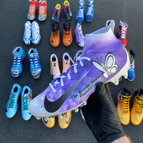 Hand painted football cleats