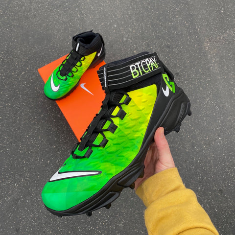 Custom Painted Football Cleats