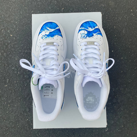 Custom Hand Painted Wave Nike Air Force Is
