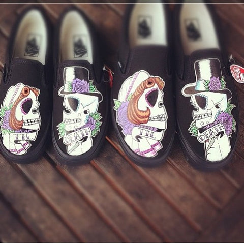Custom Painted Halloween Shoes