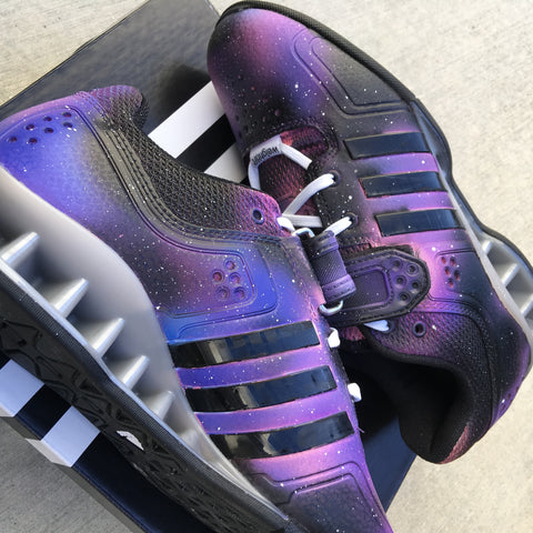 Custom Adidas Lifters, Custom Painted Adidas Weightlifting Shoes