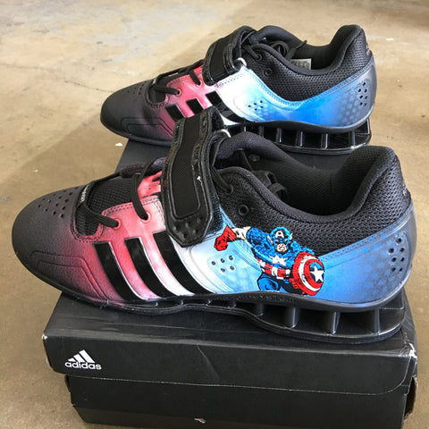 Captain America Adidas Adipower Weightlifting Shoes