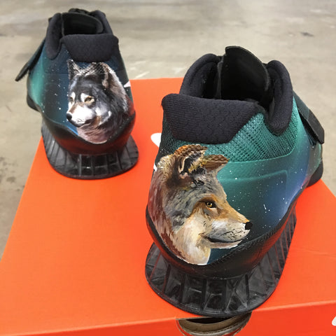 Canadian Northern Lights and Wolf Nike Romaloes