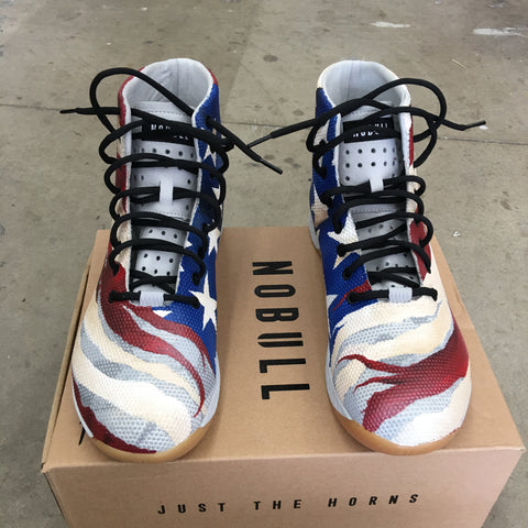 Distressed American Flag Shoes