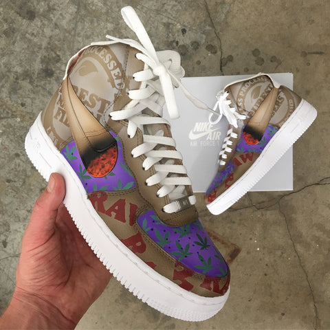 raw rolling papers nike af1 sneakers