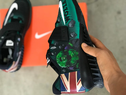 Custom Painted Incredible Hulk Shoes