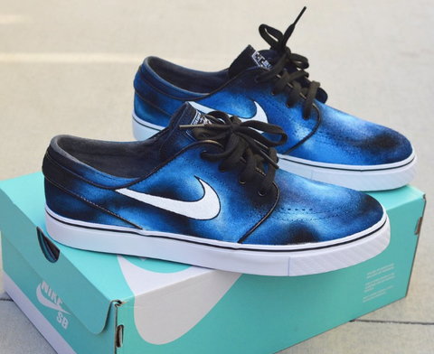 custom art shoes, nike sb stefan janoski
