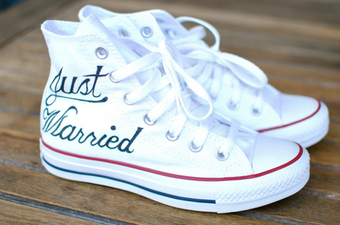 just married converse