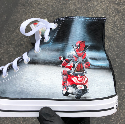 Deadpool Funny Shoes