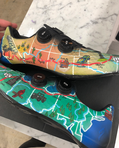custom route 66 shoes