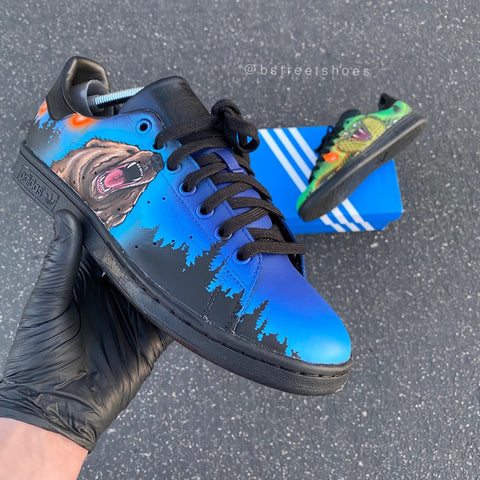 Custom California Bear Adidas Stan Smith