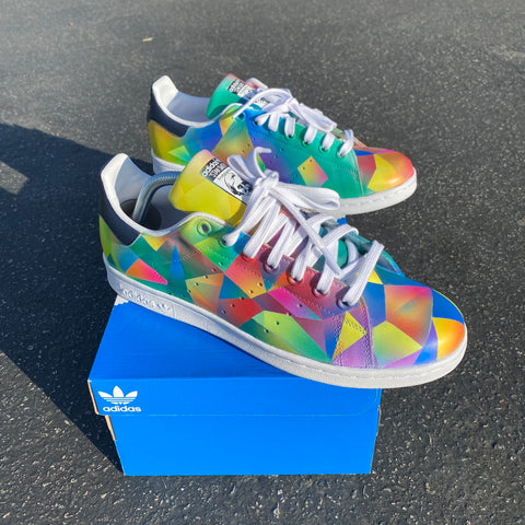 Rainbow Prism Custom Adidas Stan Smith Shoes