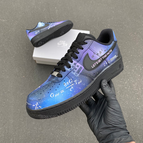 Custom Hand Painted Math Themed Air Force 1s