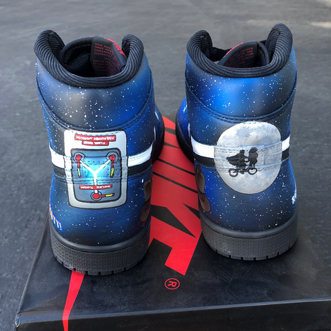 Timeless Custom Painted Back to the Future Jordans
