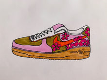 Pink/Brown AFI1 Low - Womens Size 6.5 - Custom Order - Invoice 1 of 2