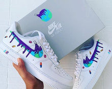 White Nike AF1 low - womens 8.5 - custom order - invoice 1 of 2
