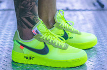 US Men's size 6.5 White Yeezy - Volt Green Nike AF1 Low Off-White Collab Theme