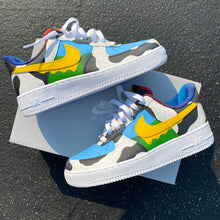 Nike Chunky Dunky Ben and Jerry Custom Hand Painted Air Force 1s
