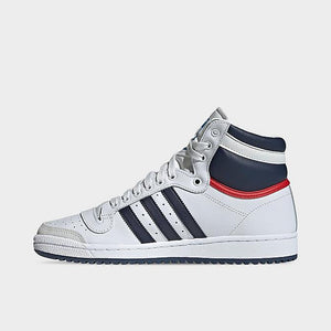 Adidas Top 10 Hi White/Navy - Mens 10 - Custom Order - Invoice 1 of 2