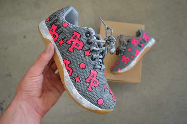 US Women's size 8.5 Heather grey NOBULL Trainers - Custom MAD Louie Vuitton Pattern Theme  Nobulls - Custom Order