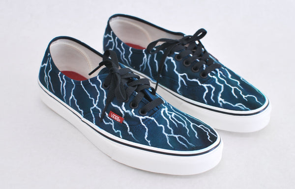 Black Authentic Vans - Lightning Bolts - B Street Shoes
