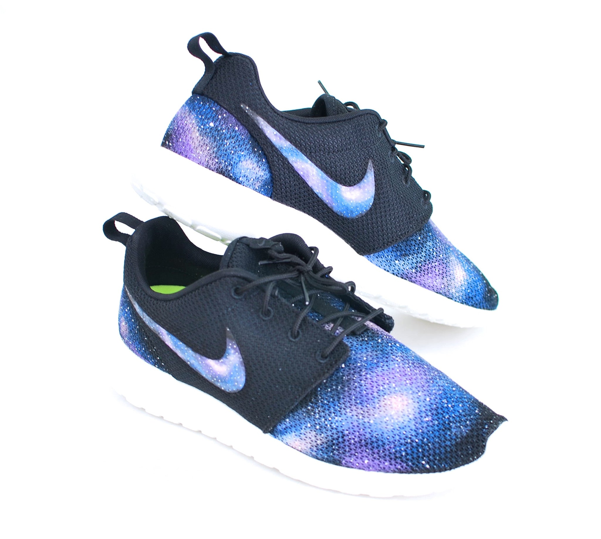 dc6fe10d64b0a Custom Nike Roshe One - Hand Painted Galaxy Sneakers – B Street Shoes