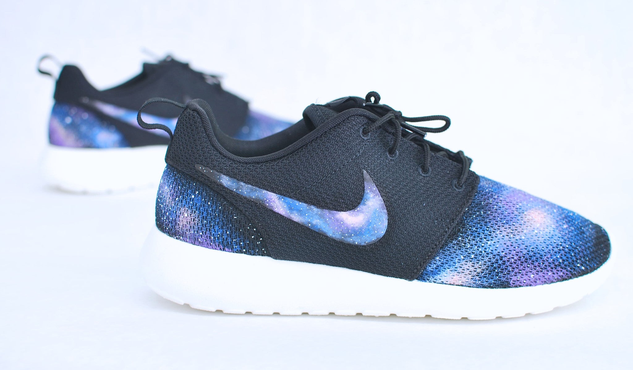 online store cf29f 05ec3 Custom Nike Roshe Run - Hand Painted Galaxy Sneakers - B Street Shoes ...