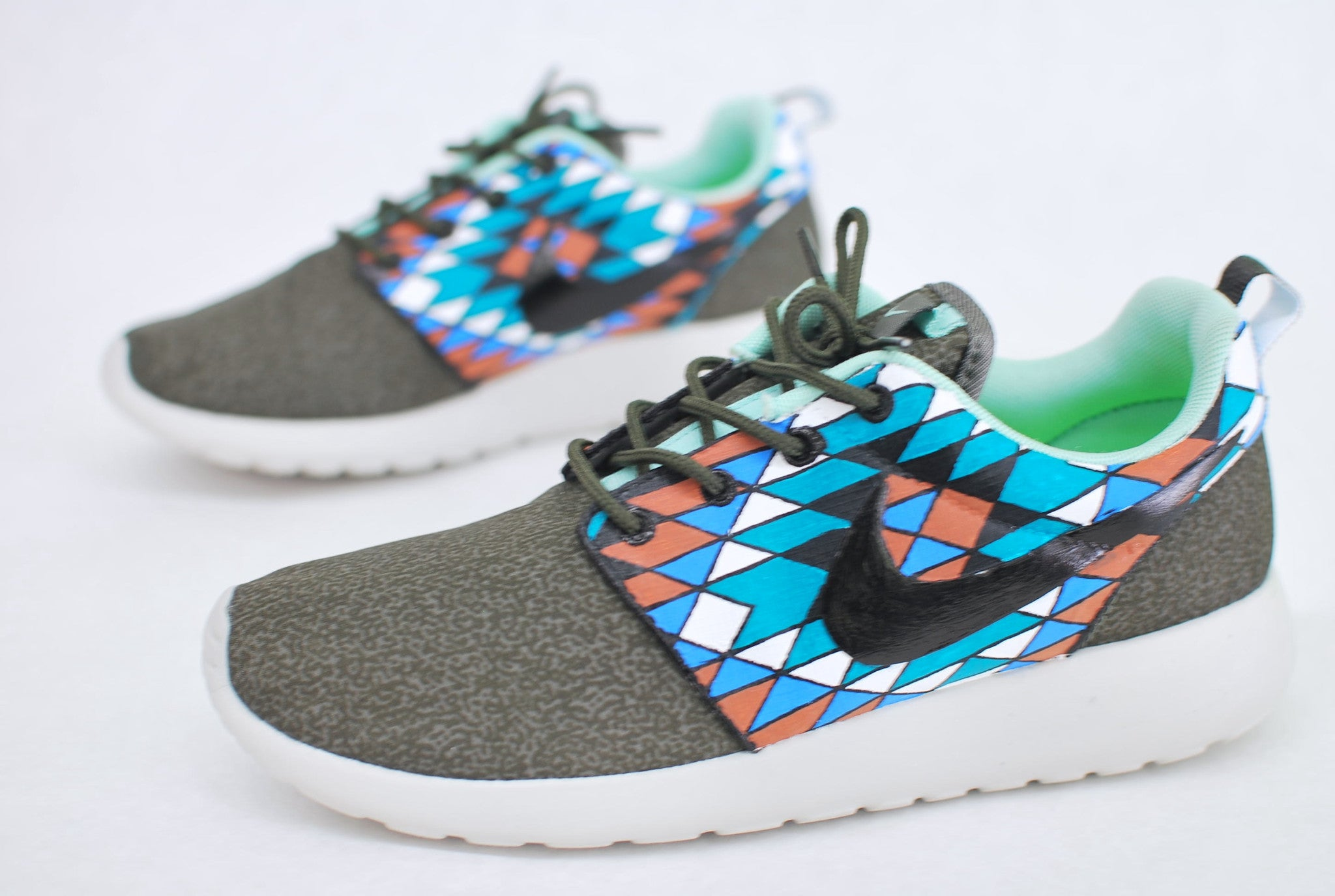 low priced 57e88 4ce5a ... Street Shoes  Custom Hand Painted Nike Roshe Run - Tribal Pattern ...