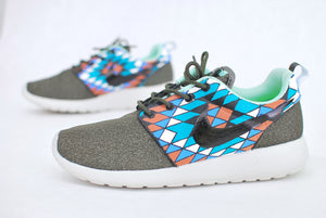 Custom Hand Painted Nike Roshe Run - Tribal Pattern