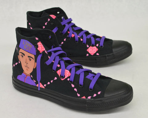 The Grand Budapest Hotel Custom Hand Painted Converse