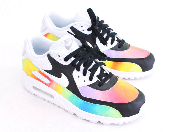 Custom Hand-Painted Color Blast Nike Air Max 90 Running Shoe - B Street Shoes