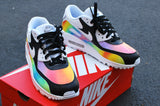 bstreetshoes, custom air max 90, hand painted shoes, custom sneakers, custom nikes, painted air max 90,