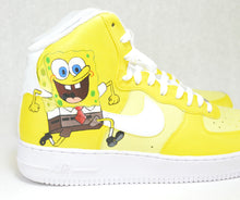 Spongebob Nikes, Custom Sneakers, Hand Painted Shoes, Spongebob AF1