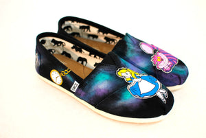 Alice in Wonderland Toms shoes - B Street Shoes