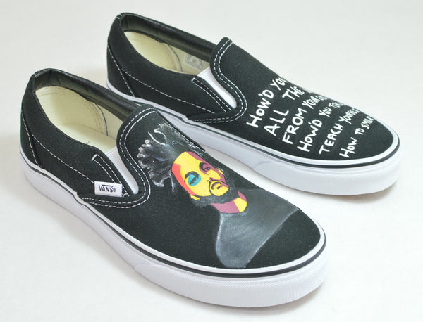 the weekend vans, custom vans slip ons, The Weekend