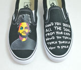 The Weekend Theme Custom Vans - Lyrics From Song Professional & XO Label Stamp