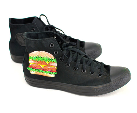 Double Double Cheese Burger Fries and Coke Converse Chuck Taylor All Star Sneakers - Custom hand painted - B Street Shoes