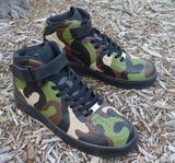 Camo Nike Air Force 1 Mids - Painted Camouflage Pattern - B Street Shoes