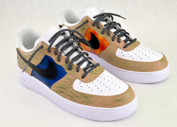 custom nike shoes, custom nike sneakers, custom af1, custom army shoes, painted marines shoes