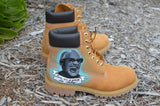 Custom Ray Charles & Stevie Wonder Timberland Boots - B Street Shoes
