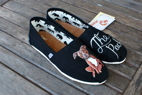 Custom Dog Portrait Toms Shoes - B Street Shoes