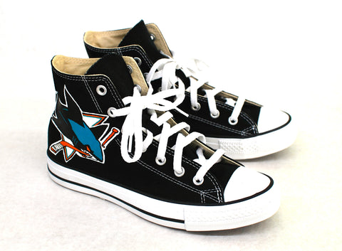 Black Converse Chuck Taylor - San Jose Sharks - B Street Shoes