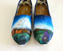 mt shasta, custom toms, hand painted toms, bstreetshoes