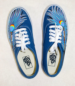 Navy Vans Authentic - Peacock Feather